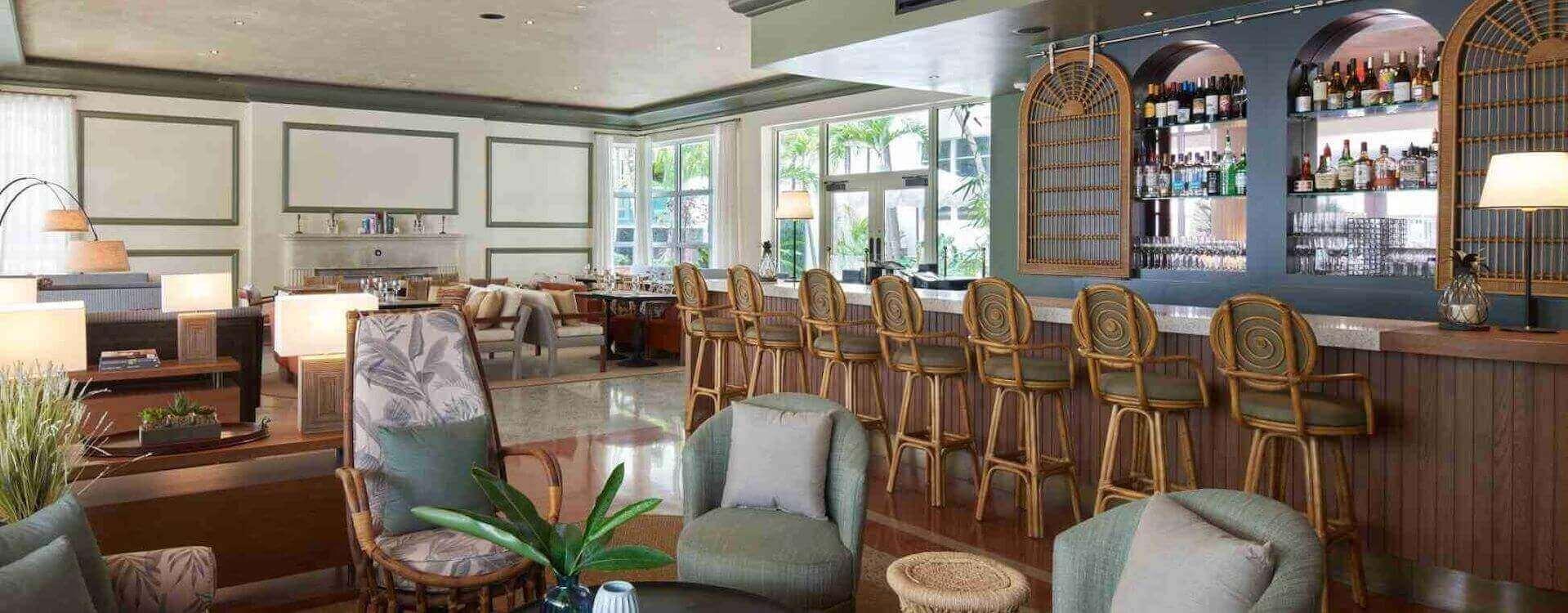 Cafeteria at Balfour Hotel, Miami beach