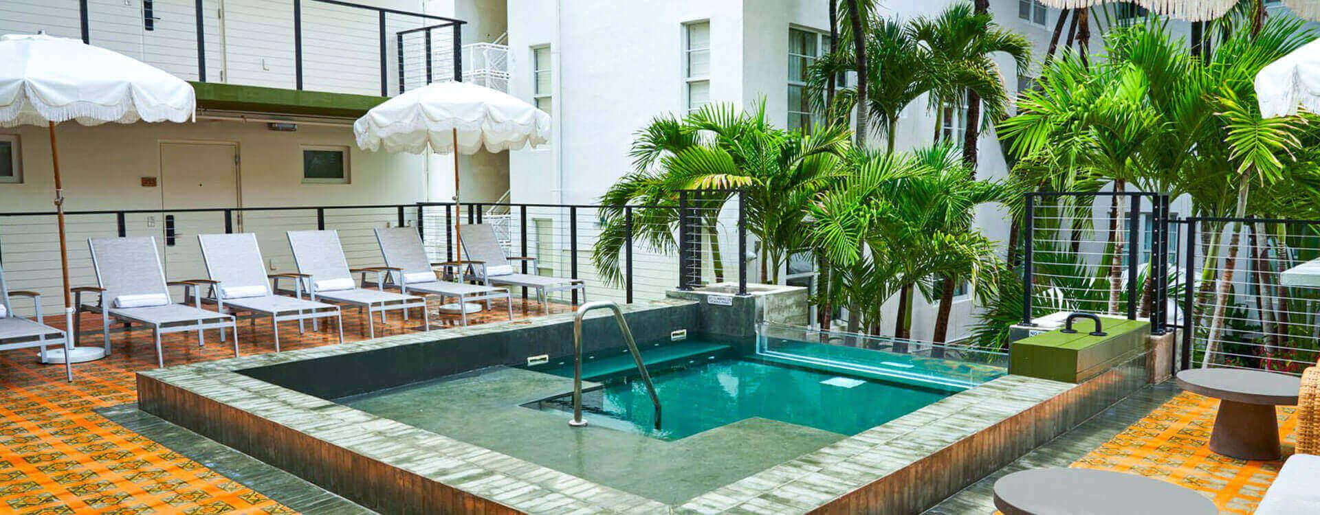 Pool View at The Balfour, Miami Beach